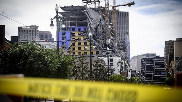 EE.UU.: Se desploma hotel en Nueva Orleans; hay al menos dos muertos