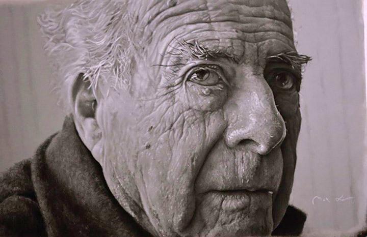 Макс Сір, «Дідусь», олівець на папері, 96,5×82 см