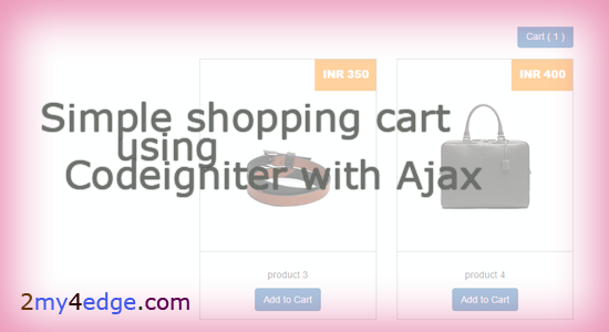 Simple codeigniter shopping cart