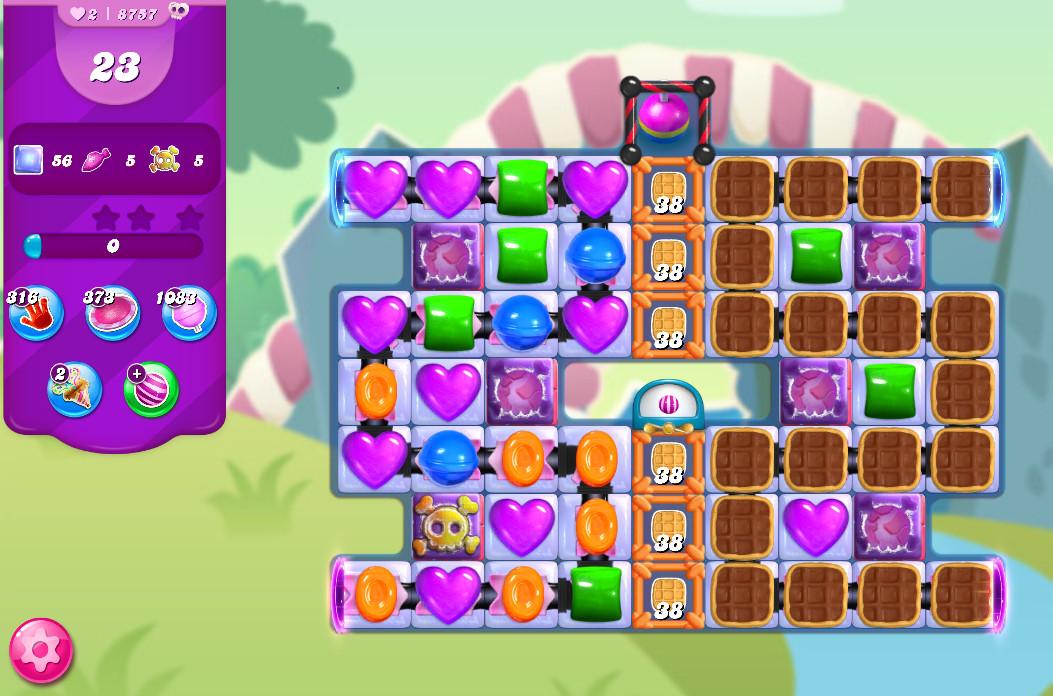 Candy Crush Saga level 8757