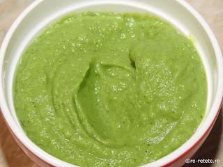 Piure de broccoli cu usturoi reteta de casa cu lapte unt retete culinare mancare garnitura verde legume sanatate vegetarian crema pasta bebe mixat,