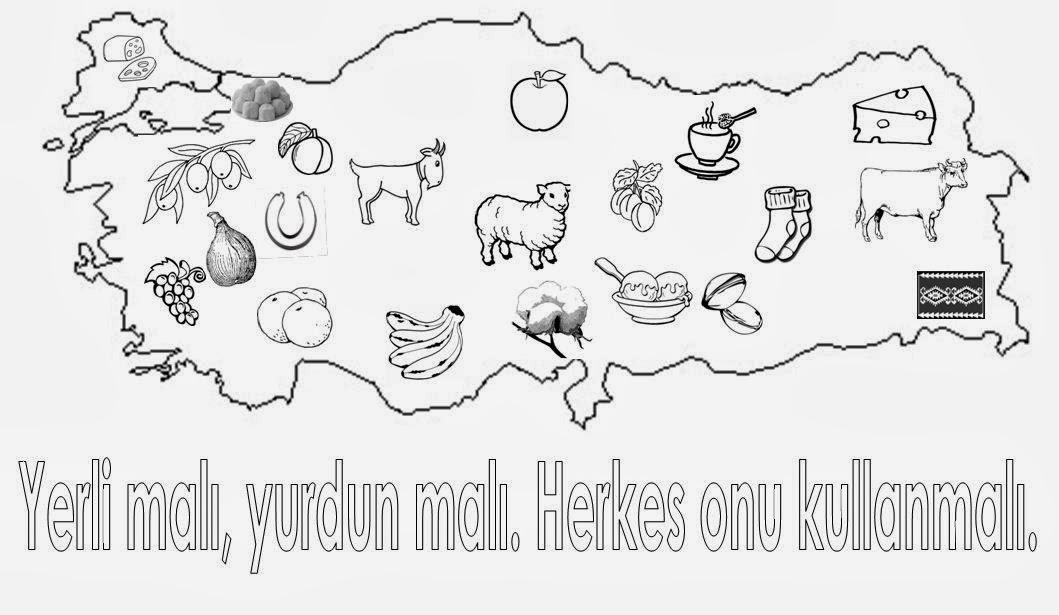 Turkiye Haritasi Illeri Boyama Egitimhane Boyama Sayfasi