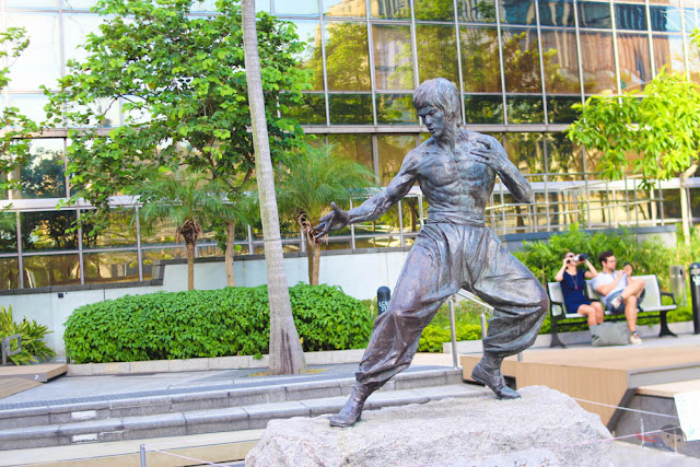 Bruce Lee Statue in Garden of Stars