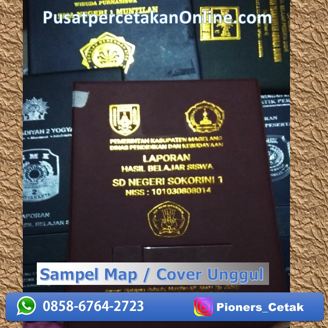 Cetak Sampul Map Raport K-13 kurtilas