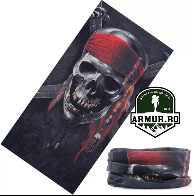 Bandana Pirat Rock shield face