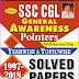 SSC CGL BOOK GENERAL AWARENESS YEAR WISE & TOPIC WISE