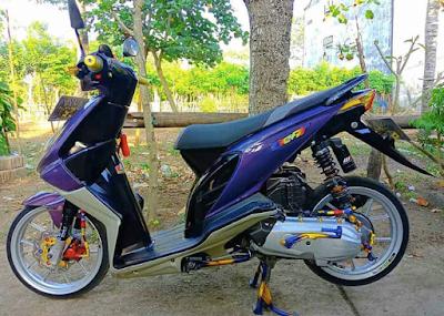 Modifikasi Honda Beat Karbu Babylook