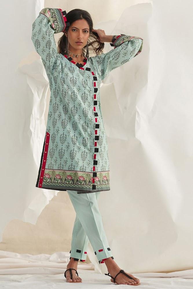 Gul Ahmed Grey Lawn Shirt