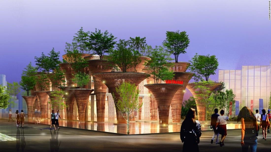 Hội chợ Milan Expo 15- gian hàng của Việt nam