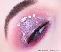 purple with gams makeup