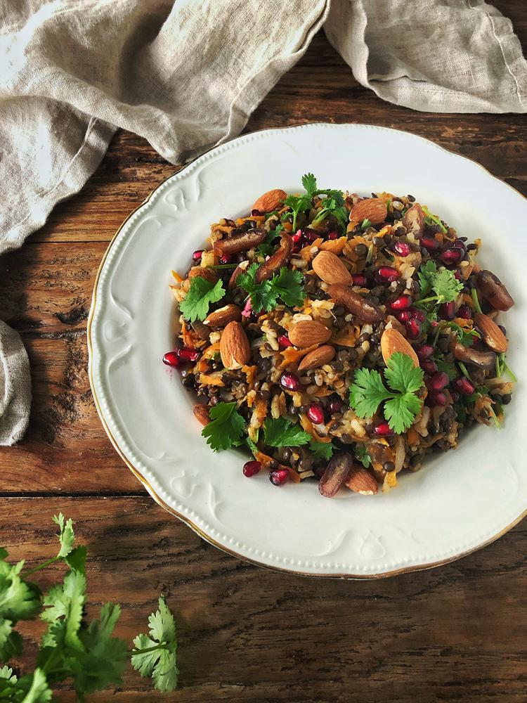riisi-linssisalaatti