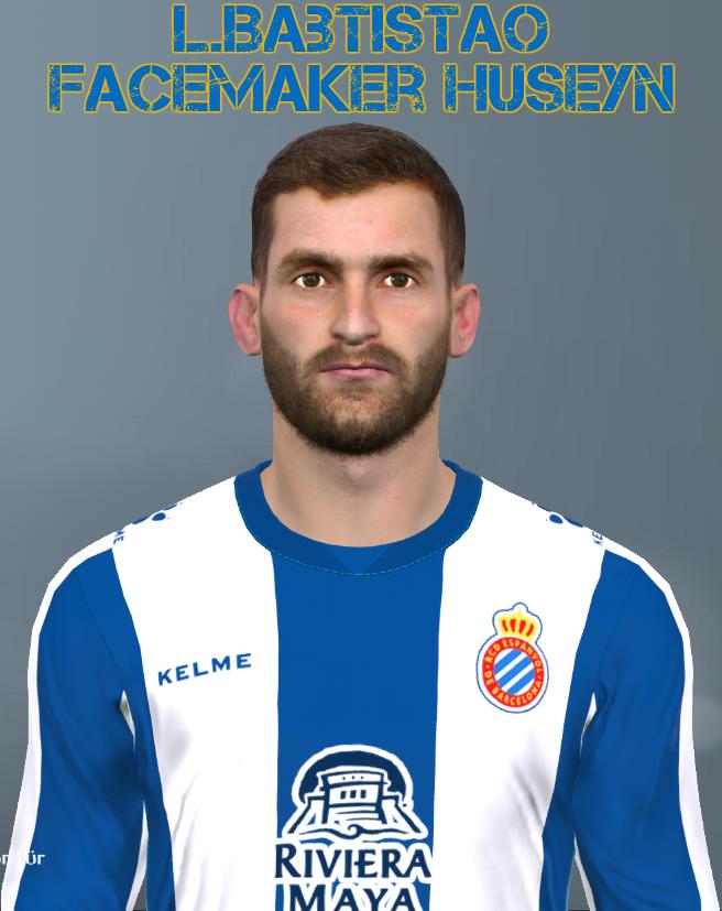 PES 2017 Léo Baptistão (RCD Espanyol) face by Facemaker Huseyn