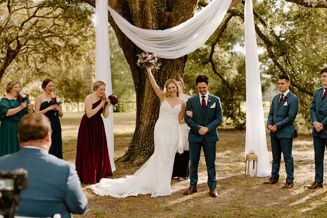happy bride and groom at arundel estate