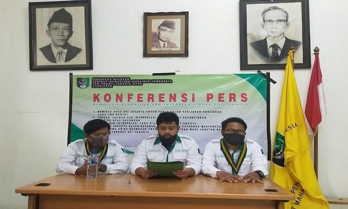 SEMMI Jakarta Raya: 33 Anggota DPRD DKI Yang Ajukan Interpelasi Soal Formula E Tidak Jelas