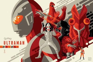 Ultraman 55th Anniversary Screen Print by Tom Whalen x Nakatomi