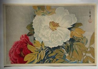 織田一磨 牡丹の木版画販売買取ぎゃらりーおおのです。愛知県名古屋市にある木版画専門店
