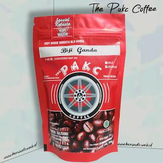 gambar bubuk kopi biji ganda robusta