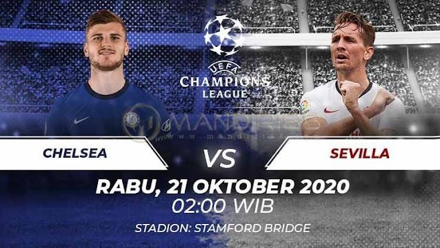 Prediksi Chelsea Vs Sevilla, Rabu 21 Oktober 2020 Pukul 02.00 WIB
