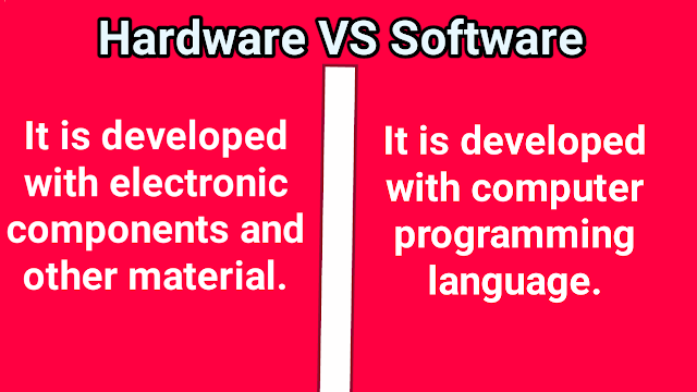 Difference between the development of software and hardware