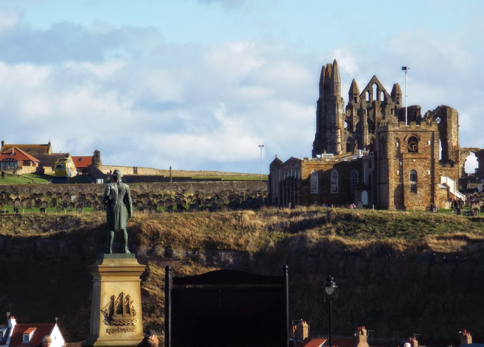 Captain Cook and Whitby Abbey