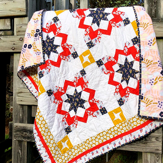 Camp Out Quilt Free Pattern designed by Jessica Dayon