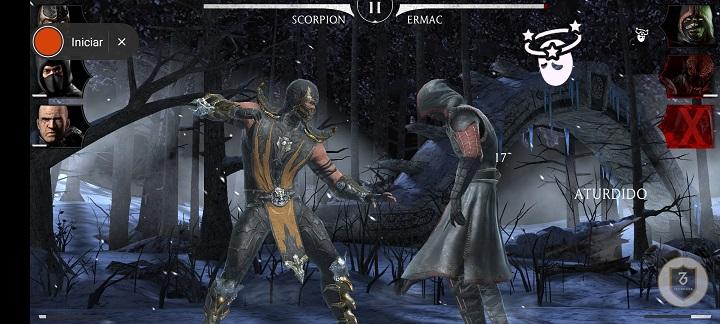 Captura Mortal Kombat 11 en el Redmi Note 9s
