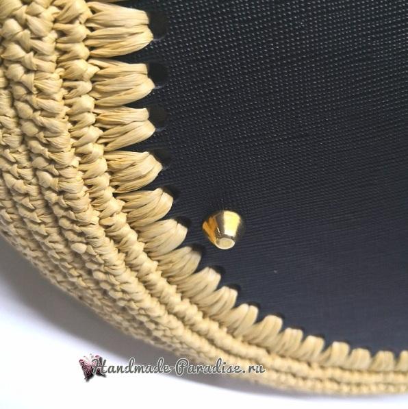 Летняя сумка крючком из полиэтиленовой пряжи (9)