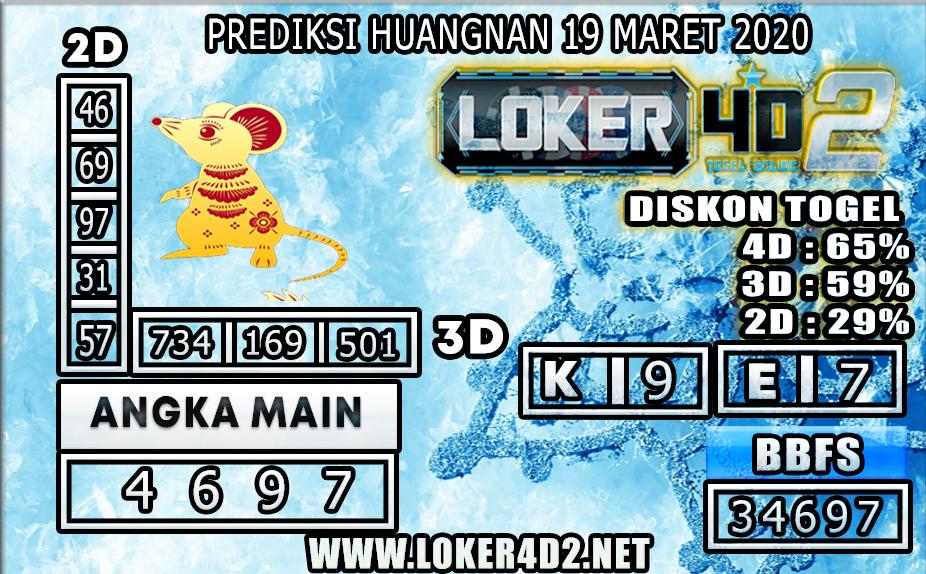 PREDIKSI TOGEL HUANGNAN  LOKER4D2 19 MARET 2020
