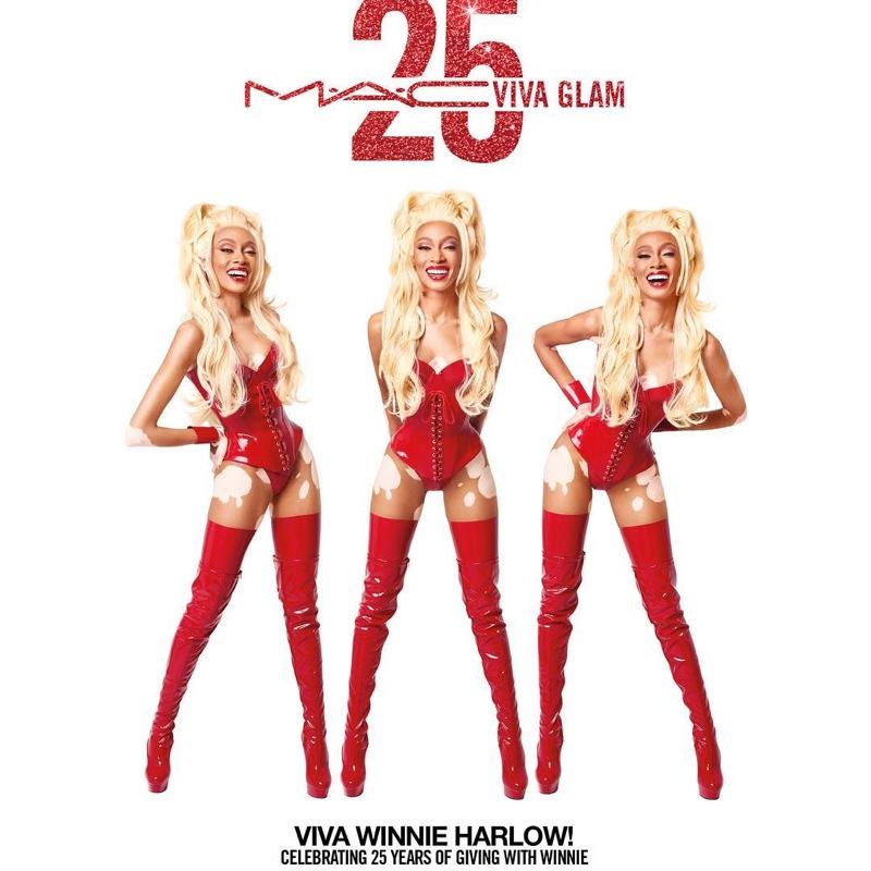MAC Viva Glam 25th Anniversary Campaign featuring Supermodel Winnie Harlow
