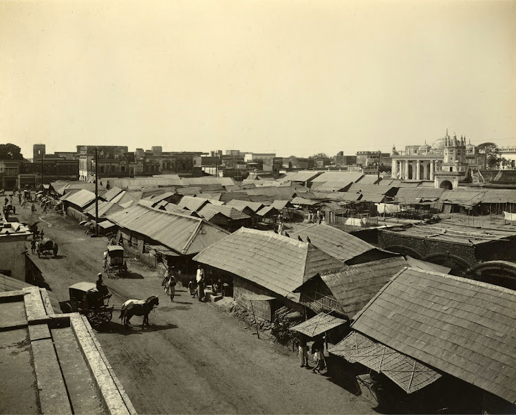 Chowk or the market place in Dhaka (Currently in Bangladesh) - 1904