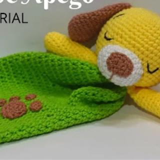 Manta de apego perrito a crochet