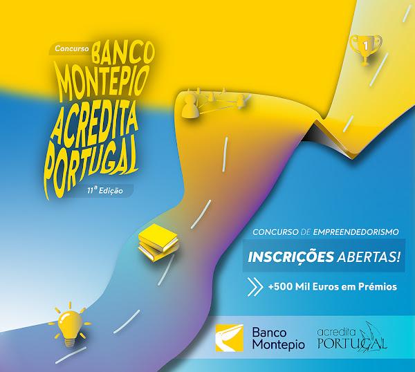 11ª edição do Concurso Banco Montepio Acredita Portugal já começou