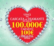 Logo Vinci una cascata di diamanti e Gift card con Lievito PaneAngeli