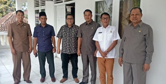 Ketua dan Wakil Ketua Komisi III DPRD OI Kunker Ke Lampung Selatan