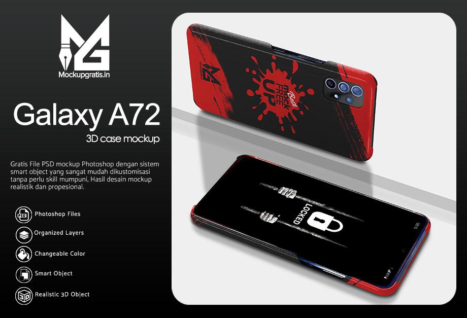 Mockup Custom Case 3D SAMSUNG Galaxy A72