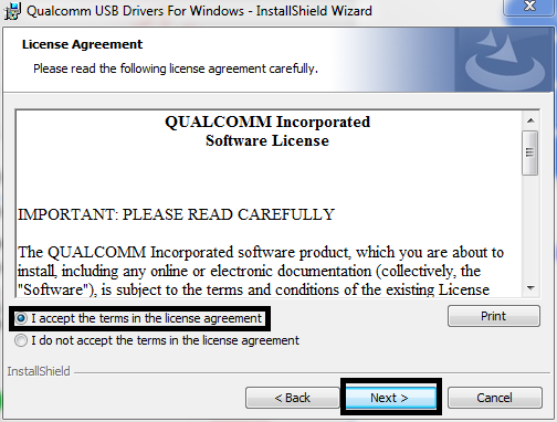 License Qualcomm HS-USB DRIVER