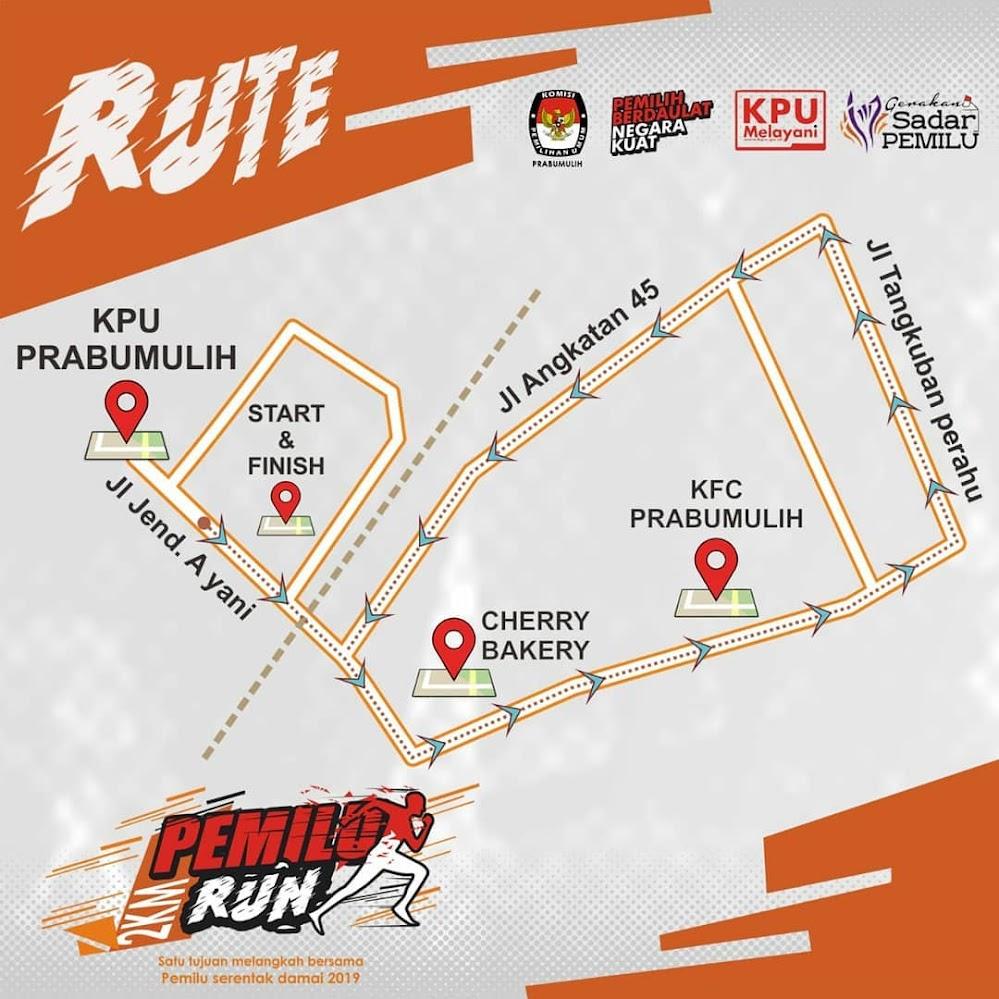 rute Pemilu Run - Prabumulih • 2019