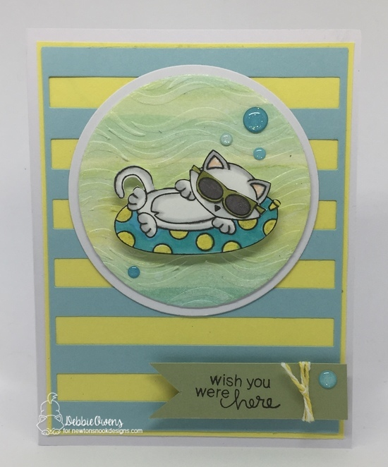 Wish you were here by Debbie features Newton's Summer Vacation and Waves by Newton's Nook Designs; #newtonsnook