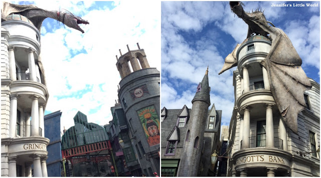Escape from Gringotts ride at Universal Studios