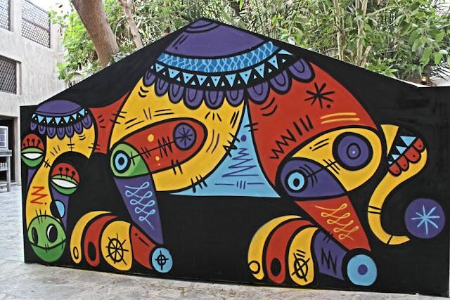 Street Art By Ruben Sanchez In the Al Bastakiya district of Dubai, United Arab Emirates.  4