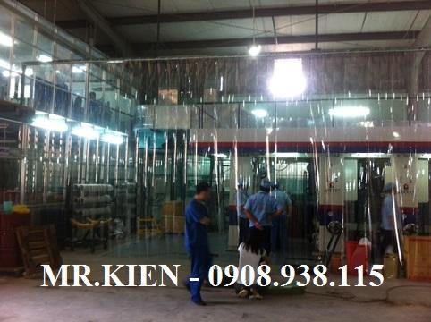 Thi công vách ngăn nhựa PVC Công ty bao bì Hạnh Minh Thi