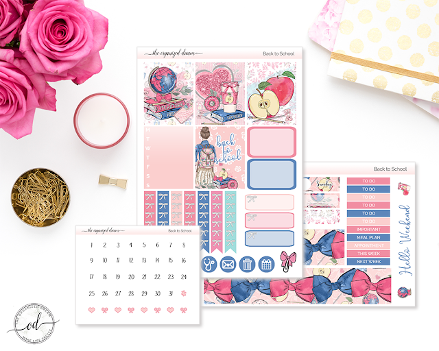 Back to school mini planner sticker kit with die cuts! #plannergirl #planning #etsy