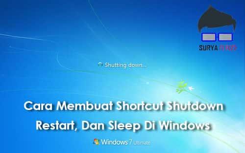 cara membuat shortcut shutdown di desktop