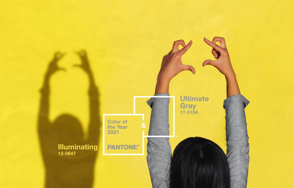 Màu chủ đạo 2021 là màu vàng và màu xám