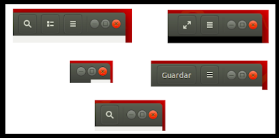 Varios tipos de botones