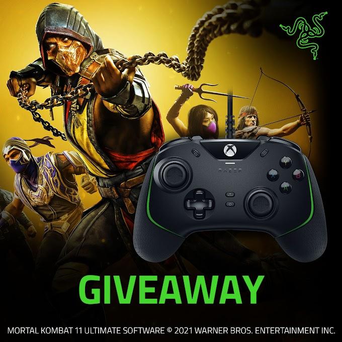 Sorteio 5 Keys Mortal Kombat 11 Ultimate e 2 controles Razer Wolverine V2