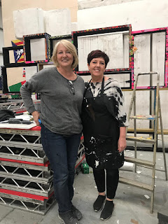 Carol Sykes and resident artist  and sculptor Jackie at LS Live Productions Park
