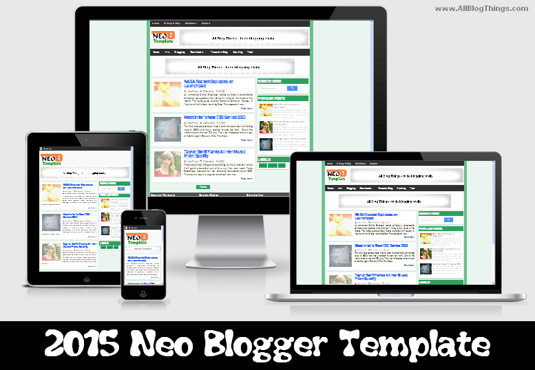 proof of responsiveness of NEO blogger template