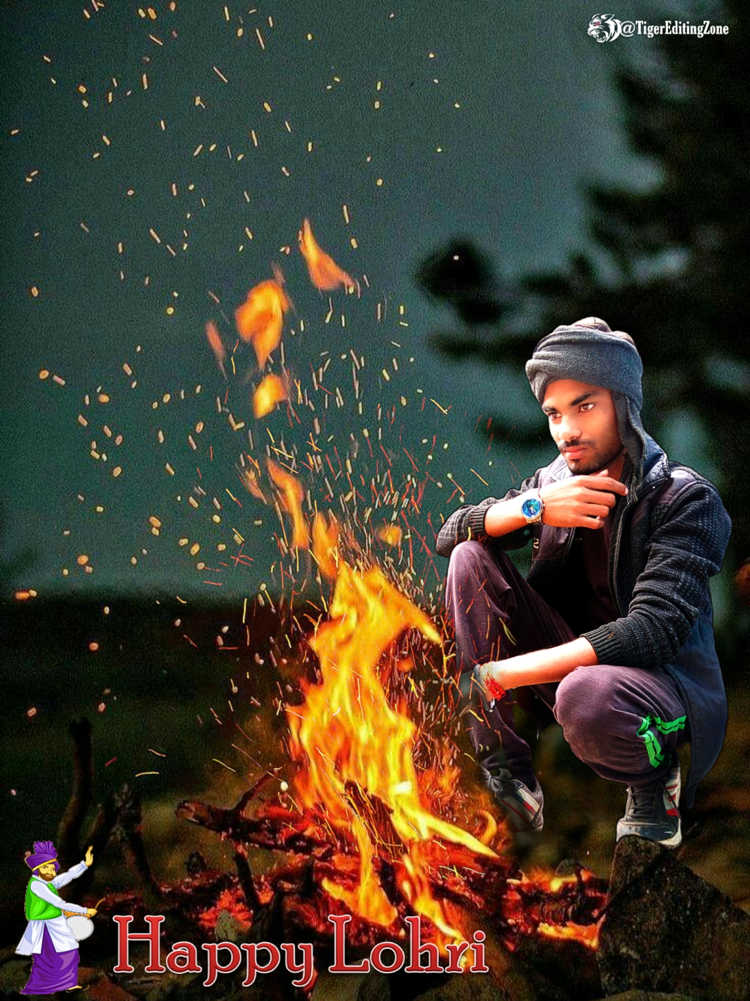 Happy Lohri Photo Editing in PicsArt Backgrounds & PNG Download | Happy Lohri celebrations