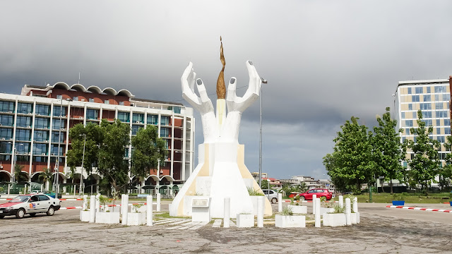 Ministries of Mines and Tourism have a hand monument